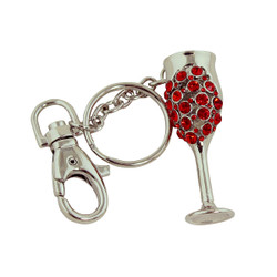 Goddess Goblet Key Chain Red