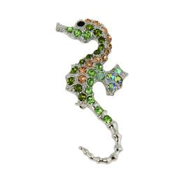 Dazzling Crystal Seahorse Brooch