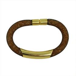 Diamond Illusion Bracelet Brown and Gold