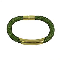 Diamond Illusion Bracelet Olive and Gold