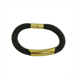 Diamond Illusion Bracelet Black and Gold