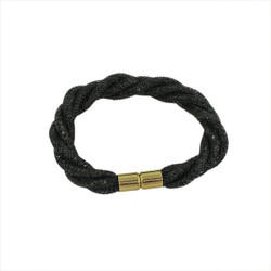 Twisted Diamond Illusion Bracelet Black and Gold