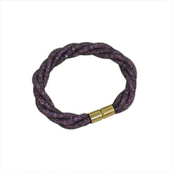 Twisted Diamond Illusion Bracelet Purple and Gold