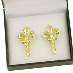 Fleur De Lis Cufflinks in Gift Box Gold