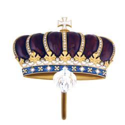 Royal Crown Wall Hook Bejeweled