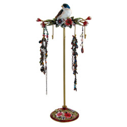 Blue Bird Jewelry Stand