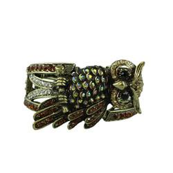 Owl bangle cuff bracelet