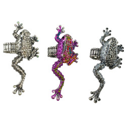 Frog Adjustable Rings Set of 3
