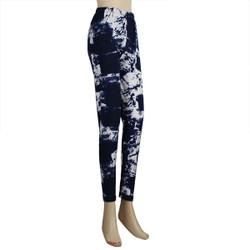 Branch Patterned Legging Regular Blue White