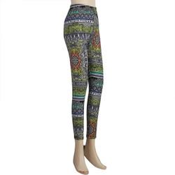 Multi-Floral Patterned Legging Regular Multi-Color