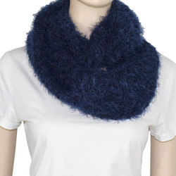Soft and Silky Faux Fur Scarf Navy