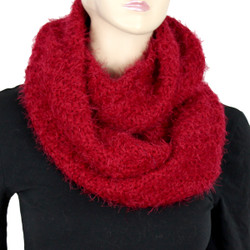 Soft and Silky Faux Fur Scarf Red