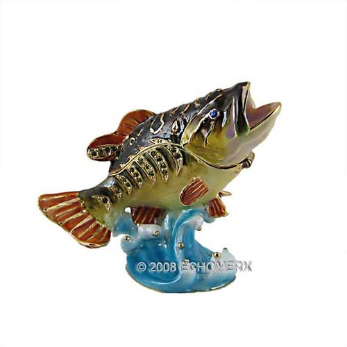Bass Trinket Box Bejeweled