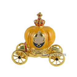 Cinderella's Pumpkin Coach Trinket Jewelry Box Bejeweled