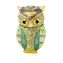 Bejeweled Owl Trinket Box