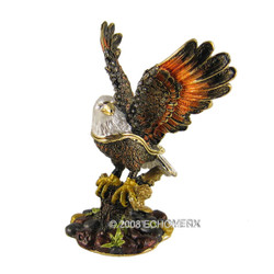 Bald Eagle Trinket Box Bejeweled (JUST RESTOCKED)