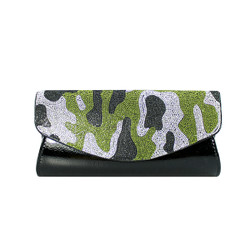 Camouflage Evening Clutch Green