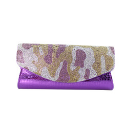 Camouflage Evening Clutch Purple