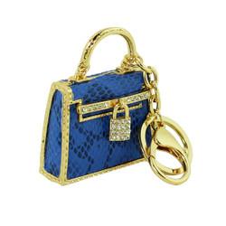 Designer Handbag Inspired Keychain Purse Charm Royal Blue