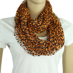 black and orange confetti scarf