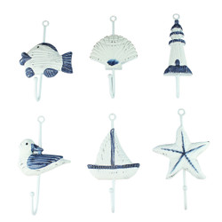 Set of 6 Nautical Wall Hook