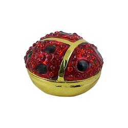 Red Ladybug Trinket Box Bejeweled