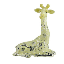 Sitting Giraffe Trinket Box Bejeweled Sparkling 4 Inches