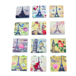 Retro European Landmarks Compact Mirror Set of 12