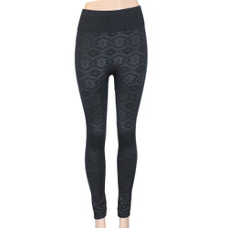 Black on Black Rouge Aztec Print Leggings