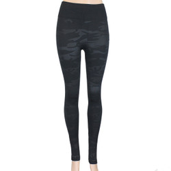 Black on Black Camouflage Print Leggings