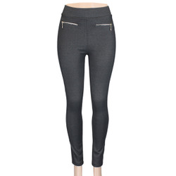 Charcoal Cotton Jeggings Medium