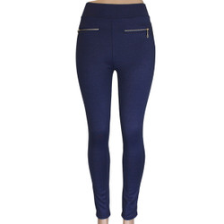 Navy Blue Cotton Jeggings Medium