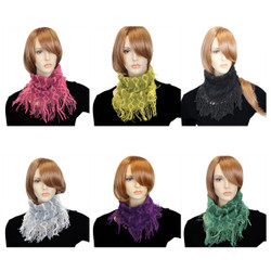 Assorted Lot of 6 Figure 8 Knit Small Infinity Scarf