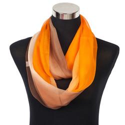 Infinity Ombre Sheer Scarf Orange