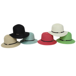Lot of 6 Paper Straw Accented Love Hats