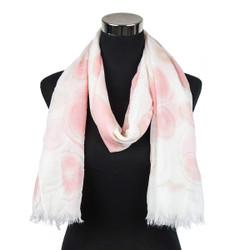 Pastel Circles Design Viscose Scarf Pink