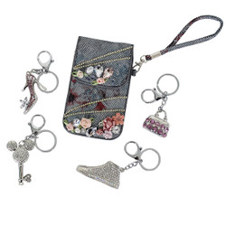 Assorted Keychain Purse Charm lot of 5