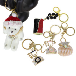 Assorted Lot of 5 Keychain Purse Charm