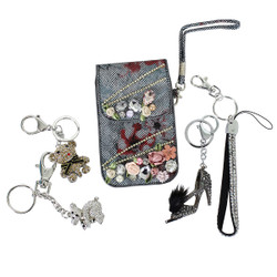 Assorted Lot of 5 Key Chain Purse Charm