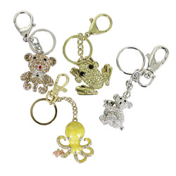 Assorted Key Chain Lot of 4 Purse Charms