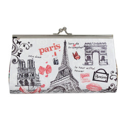 Paris Love Design with Eiffel Tower Theme Wallet Purse
