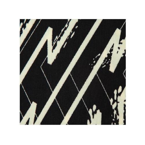 Black and Ivory Abstract Zig Zag Print Palazzo