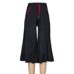 Black Culottes with Red Trim