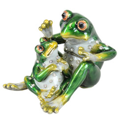 """Word of the Day"" Frogs Trinket Box"