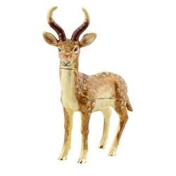 Jeweled Deer Trinket Box
