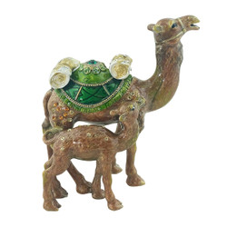 Desert Camel and Baby Trinket Box