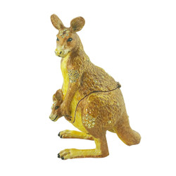 Kangaroo and Joey Trinket Box