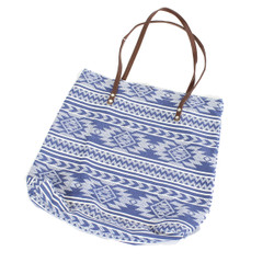 Aztec Tribal Durable Canvas Tote Blue