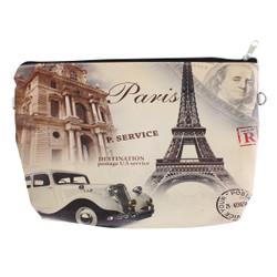 Paris themed Cosmetic bags 3 piece set