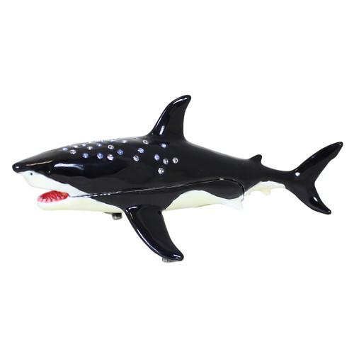 Black and White Shark Trinket Box